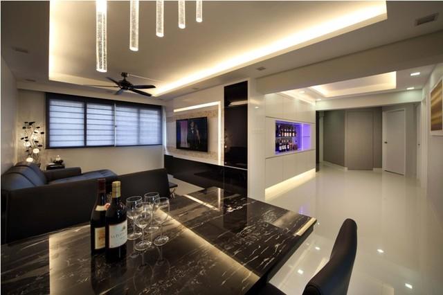 Gallery for Living room interior design singapore