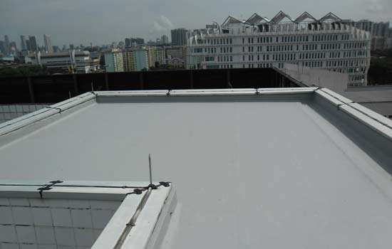 acrylic waterproofing system after