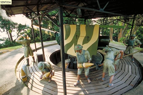 Fort Siloso, Soldiers Working Together